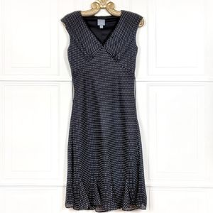RETRO Polka Dot Bias Flounce Godot Midi Dress 10